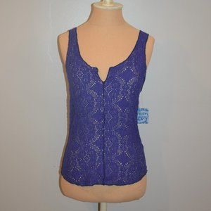 Intimately Free People Pucker Lace Notch Cami Tank